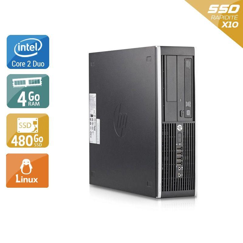 HP Compaq Elite 8200 SFF Core 2 Duo 4Go RAM 480Go SSD Linux