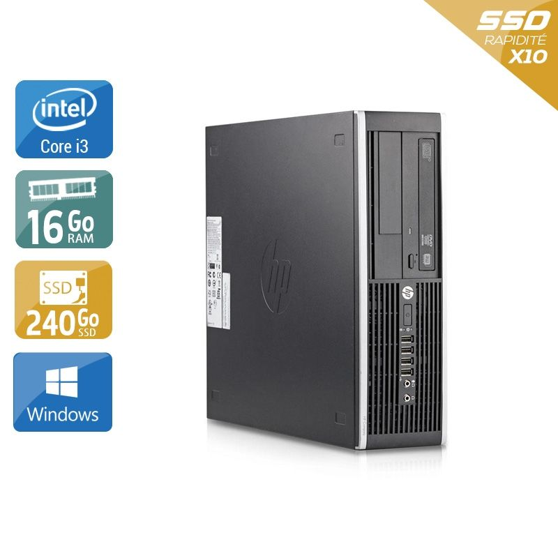 HP Compaq Elite 8200 SFF i3 16Go RAM 240Go SSD Windows 10