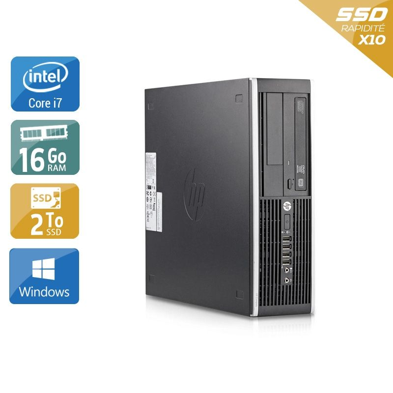 HP Compaq Elite 8200 SFF i7 16Go RAM 2To SSD Windows 10