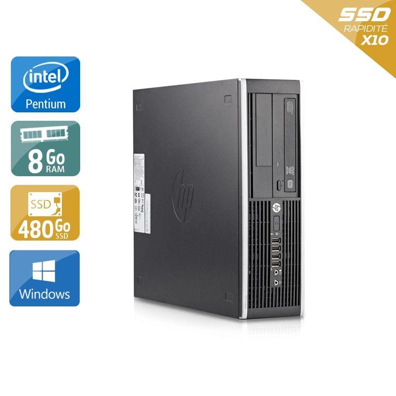 HP Compaq Elite 8200 SFF Pentium G Dual Core 8Go RAM 480Go SSD Windows 10
