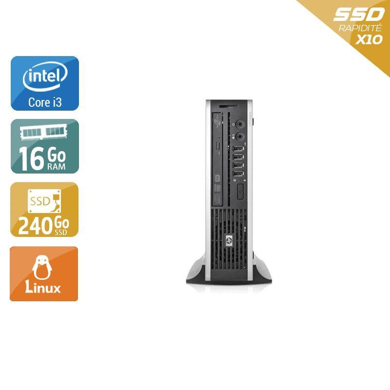 HP Compaq Elite 8200 USDT i3 16Go RAM 240Go SSD Linux