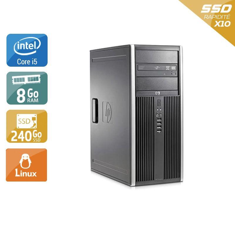 HP Compaq Elite 8300 Tower i5 8Go RAM 240Go SSD Linux