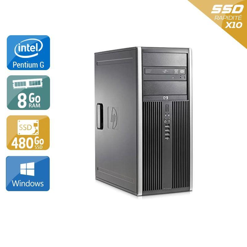 HP Compaq Elite 8300 Tower Pentium G Dual Core 8Go RAM 480Go SSD Windows 10