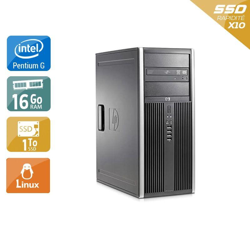 HP Compaq Elite 8300 Tower Pentium G Dual Core 16Go RAM 1To SSD Linux