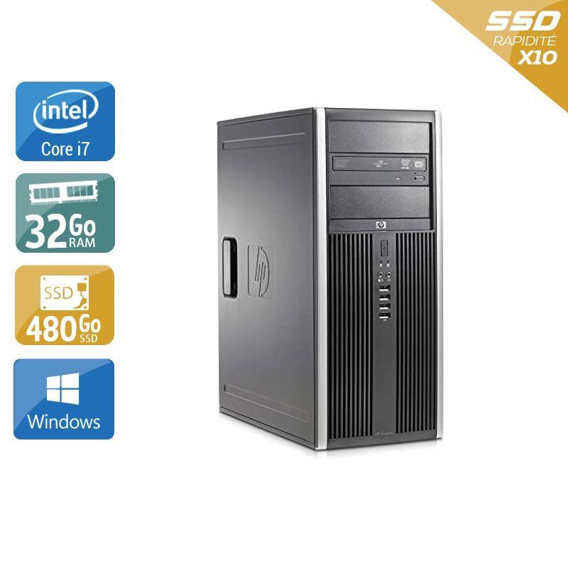 HP Compaq Elite 8300 Tower i7 32Go RAM 480Go SSD Windows 10