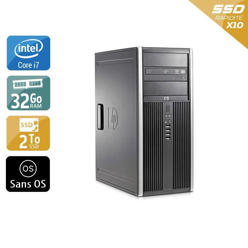 HP Compaq Elite 8300 Tower i7 32Go RAM 2To SSD Sans OS