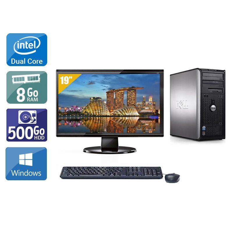 Dell Optiplex 380 Desktop Dual Core avec Écran 19 pouces 8Go RAM 500Go HDD Windows 10