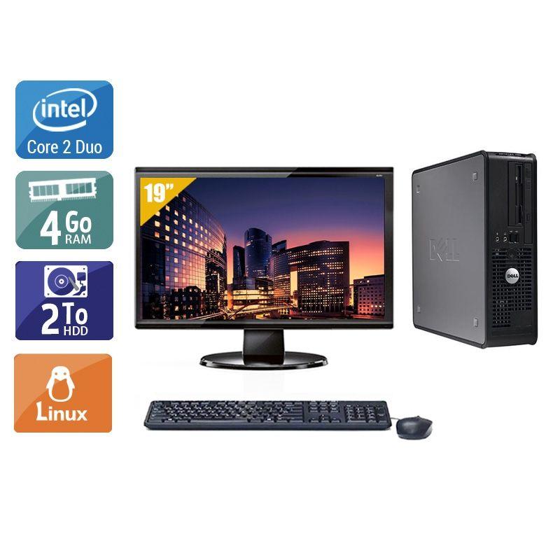 Dell Optiplex 380 Tower Core 2 Duo avec Écran 19 pouces 4Go RAM 2To HDD Linux