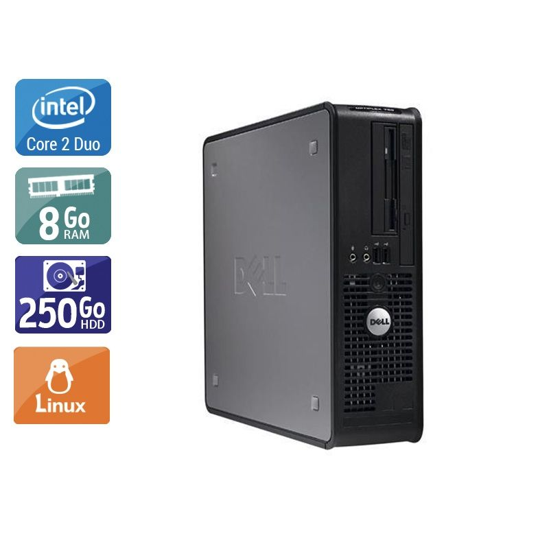 Dell Optiplex 380 Tower Core 2 Duo 8Go RAM 250Go HDD Linux
