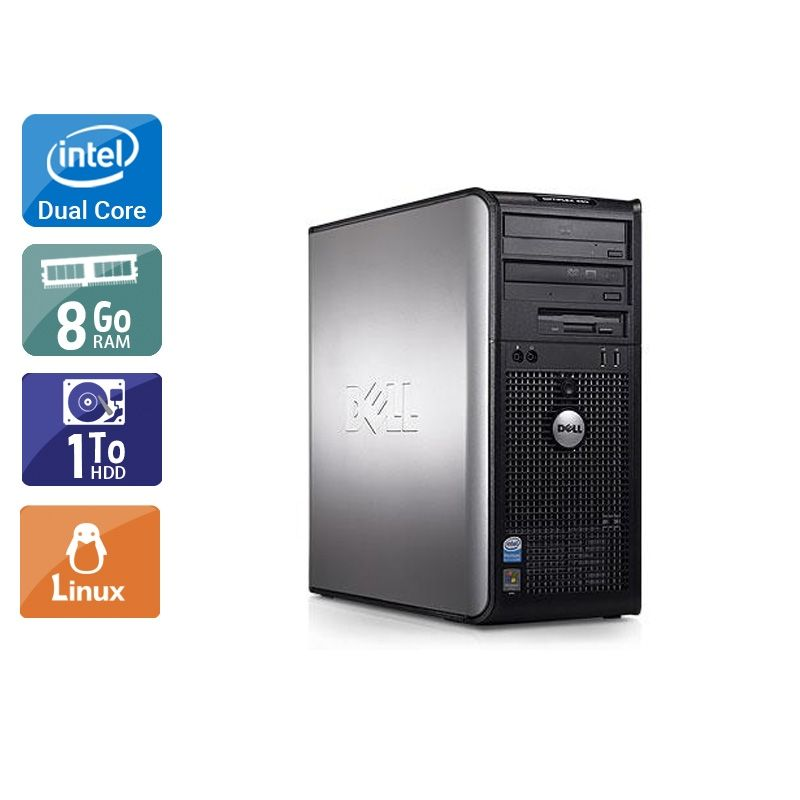 Dell Optiplex 380 Tower Dual Core 8Go RAM 1To HDD Linux
