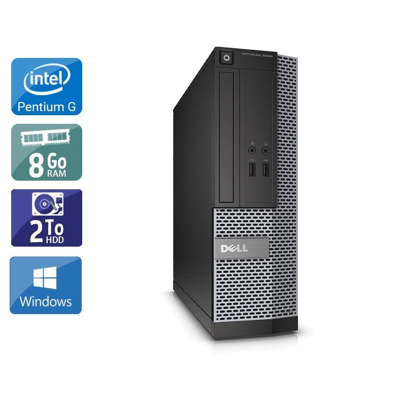 Dell Optiplex 390 Desktop Pentium G Dual Core 8Go RAM 2To HDD Windows 10
