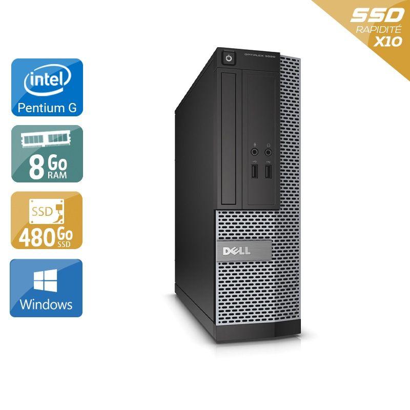 Dell Optiplex 390 Desktop Pentium G Dual Core 8Go RAM 480Go SSD Windows 10