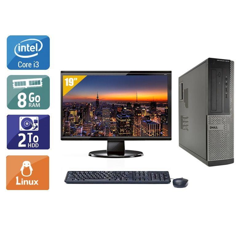 Dell Optiplex 3010 Desktop i3 avec Écran 19 pouces 8Go RAM 2To HDD Linux