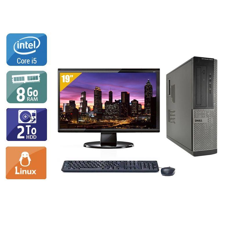 Dell Optiplex 3010 Desktop i5 avec Écran 19 pouces 8Go RAM 2To HDD Linux
