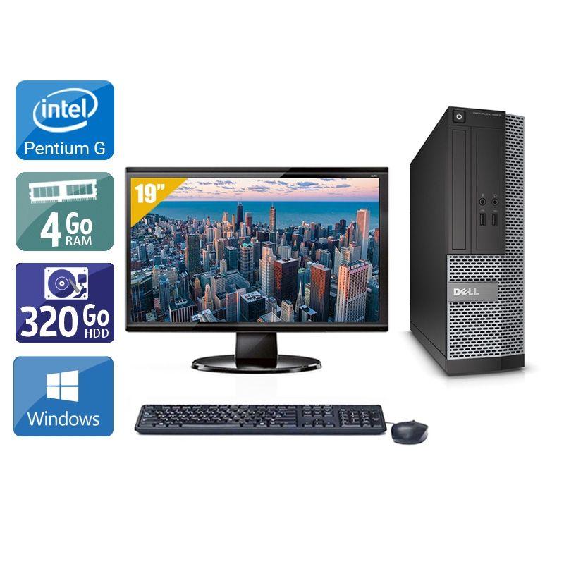 Dell Optiplex 3010 SFF Pentium G Dual Core avec Écran 19 pouces 4Go RAM 320Go HDD Windows 10