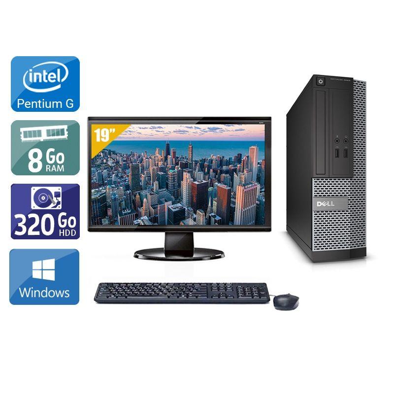 Dell Optiplex 3010 SFF Pentium G Dual Core avec Écran 19 pouces 8Go RAM 320Go HDD Windows 10