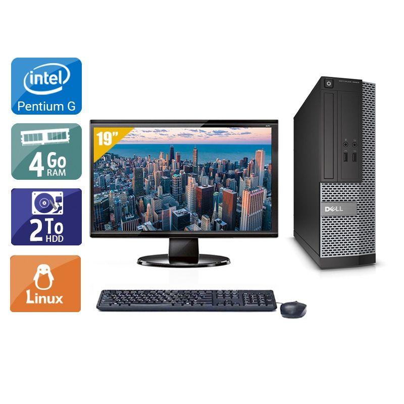 Dell Optiplex 3010 SFF Pentium G Dual Core avec Écran 19 pouces 4Go RAM 2To HDD Linux