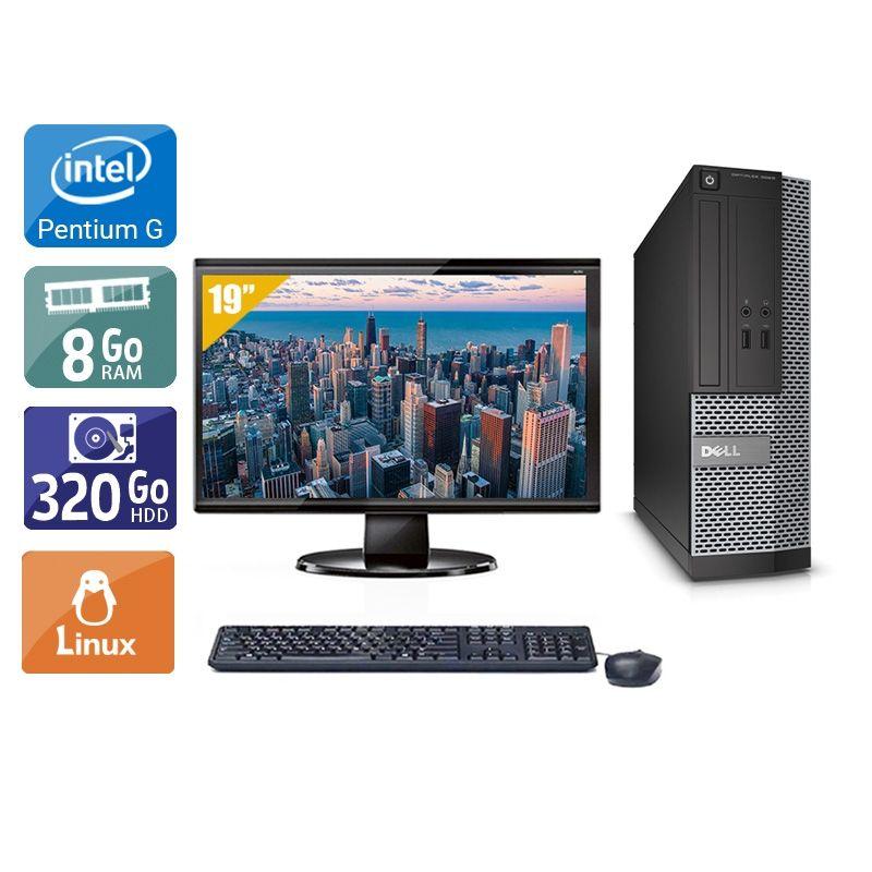 Dell Optiplex 3010 SFF Pentium G Dual Core avec Écran 19 pouces 8Go RAM 320Go HDD Linux