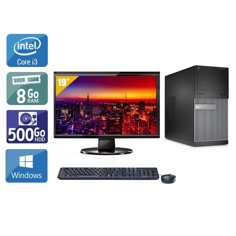 Dell Optiplex 3020 Tower i3 avec Écran 19 pouces 8Go RAM 500Go HDD Windows 10