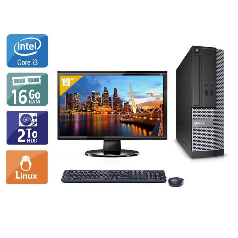 Dell Optiplex 3020 SFF i3 avec Écran 19 pouces 16Go RAM 2To HDD Linux