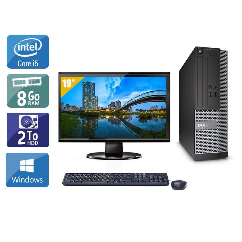 Dell Optiplex 3020 SFF i5 avec Écran 19 pouces 8Go RAM 2To HDD Windows 10