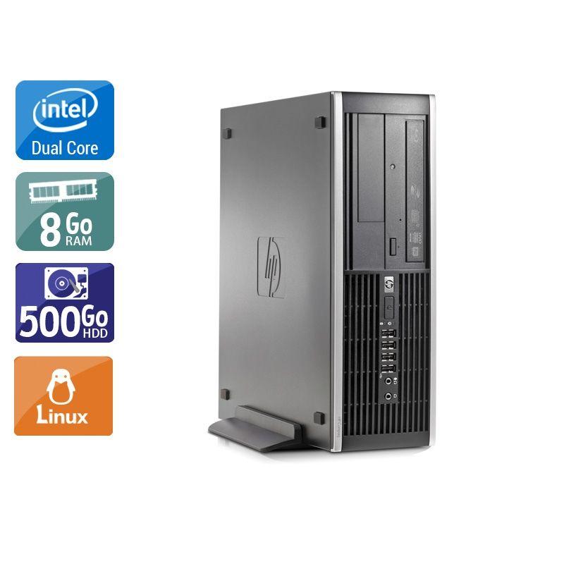HP Compaq Elite 8000 SFF Dual Core 8Go RAM 250Go HDD Linux