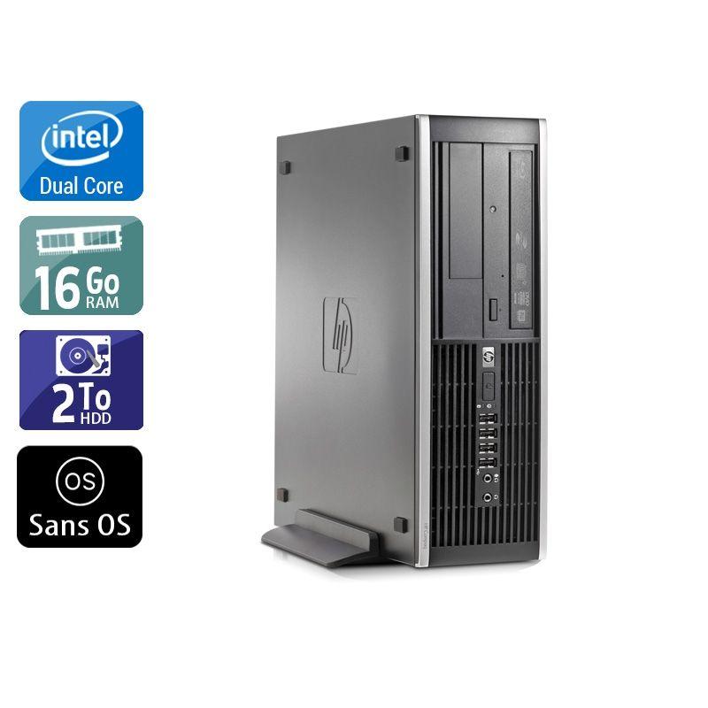 HP Compaq Elite 8000 SFF Dual Core 16Go RAM 2To HDD Sans OS