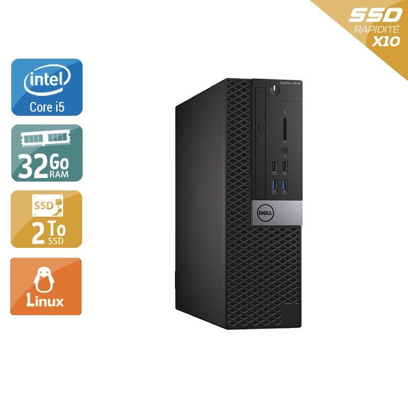 Dell Optiplex 5040 SFF i5 32Go RAM 2To SSD Linux