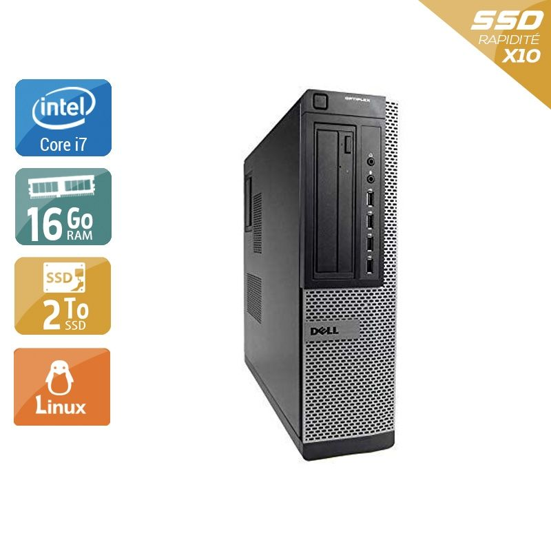 Dell Optiplex 7010 Desktop i7 16Go RAM 2To SSD Linux