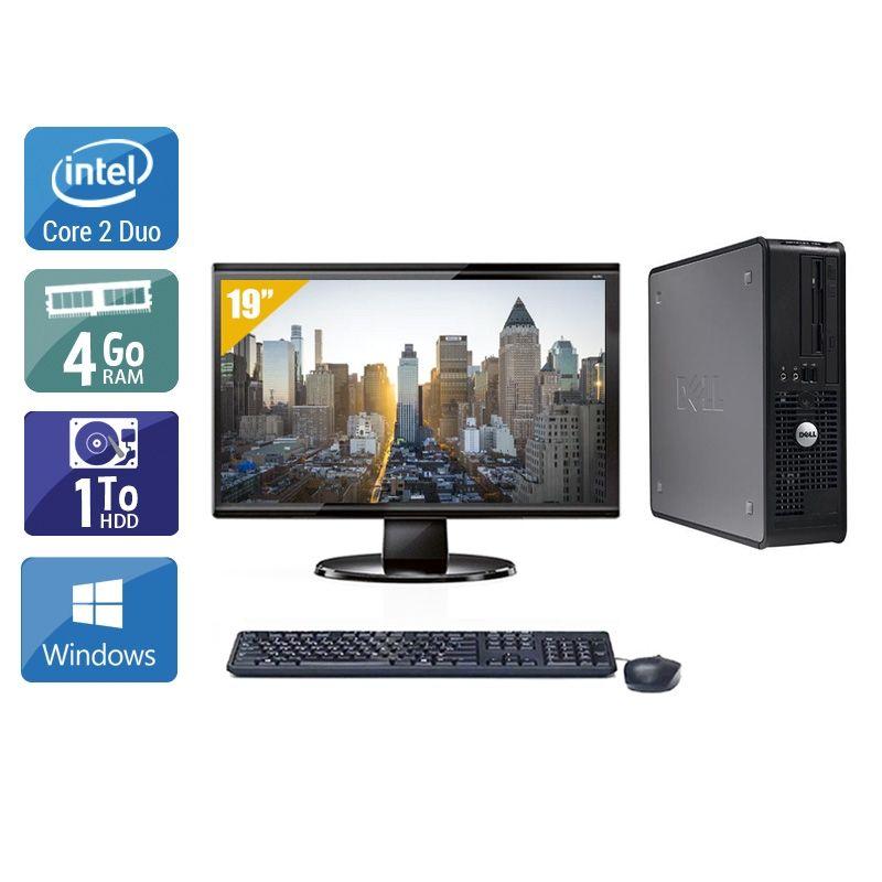 Dell Optiplex 380 SFF Core 2 Duo avec Écran 19 pouces 4Go RAM 1To HDD Windows 10