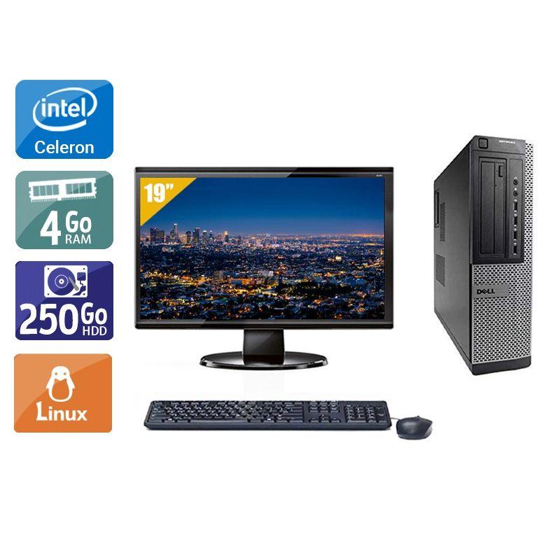 Dell Optiplex 390 Desktop Celeron avec Écran 19 pouces 4Go RAM 250Go HDD Linux