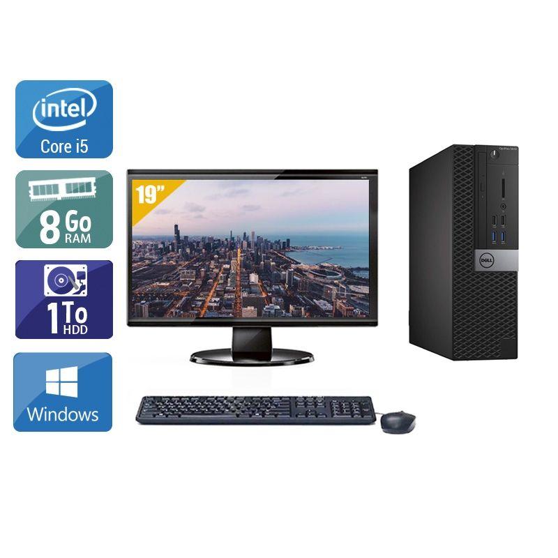 Dell Optiplex 5040 SFF i5 avec Écran 19 pouces 8Go RAM 1To HDD Windows 10