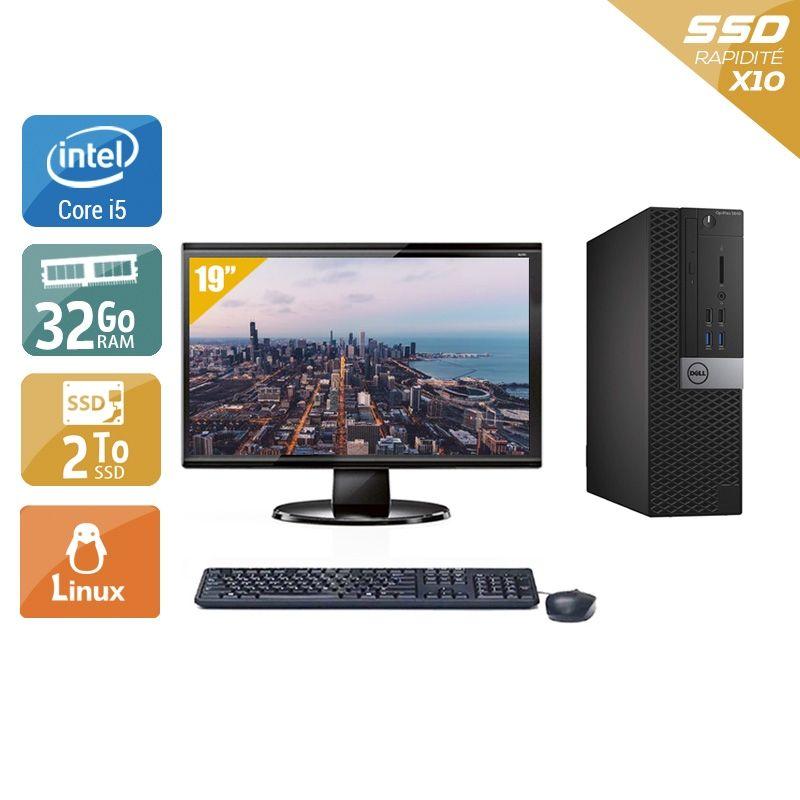 Dell Optiplex 5040 SFF i5 avec Écran 19 pouces 32Go RAM 2To SSD Windows 10