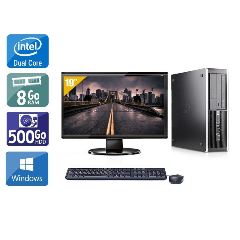 HP Compaq Pro 6000 SFF Dual Core avec Écran 19 pouces 8Go RAM 500Go HDD Windows 10