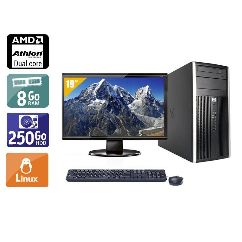 HP Compaq Pro 6005 Tower AMD Athlon Dual Core avec Écran 19 pouces 8Go RAM 250Go HDD Linux