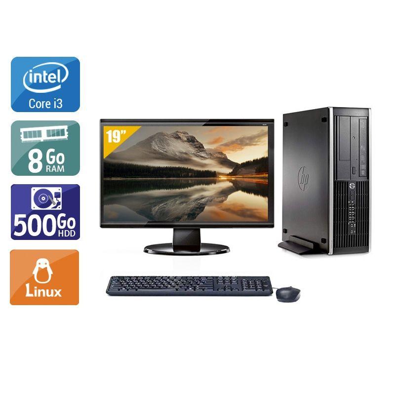 HP Compaq Pro 6200 SFF i3 avec Écran 19 pouces 8Go RAM 500Go HDD Linux