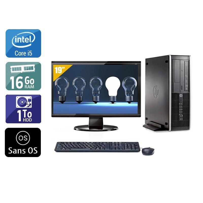 HP Compaq Pro 6300 SFF i5 avec Écran 19 pouces 16Go RAM 1To HDD Sans OS