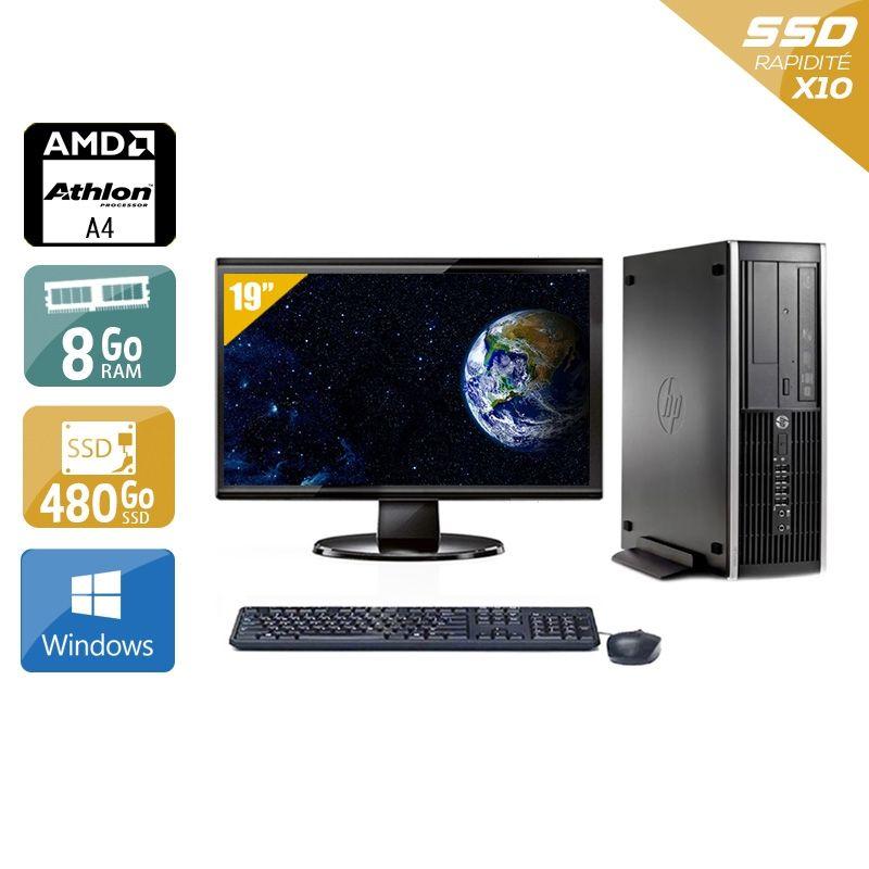 HP Compaq Pro 6305 SFF AMD A4 avec Écran 19 pouces 8Go RAM 480Go SSD Windows 10