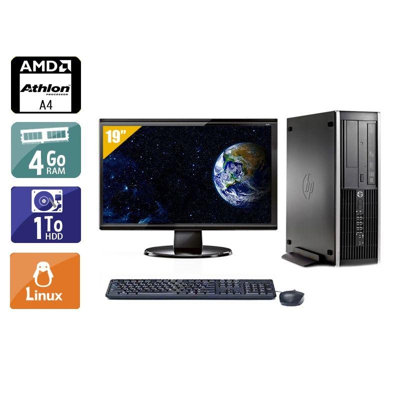 HP Compaq Pro 6305 SFF AMD A4 avec Écran 19 pouces 4Go RAM 1To HDD Linux