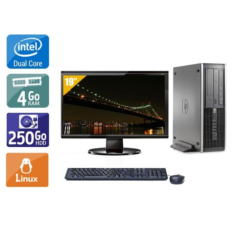 HP Compaq Elite 8000 SFF Dual Core avec Écran 19 pouces 4Go RAM 250Go HDD Linux