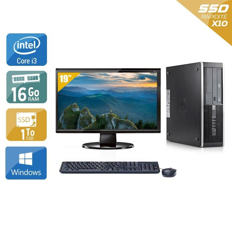 HP Compaq Elite 8100 SFF i3 avec Écran 19 pouces 16Go RAM 1To SSD Windows 10