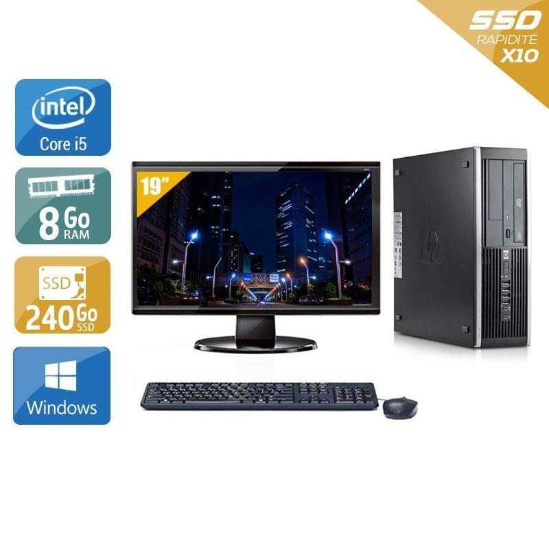 HP Compaq Elite 8100 SFF i5 avec Écran 19 pouces 8Go RAM 240Go SSD Windows 10