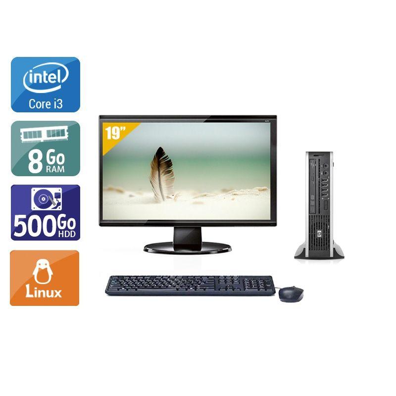 HP Compaq Elite 8200 USDT i3 avec Écran 19 pouces 8Go RAM 500Go HDD Linux