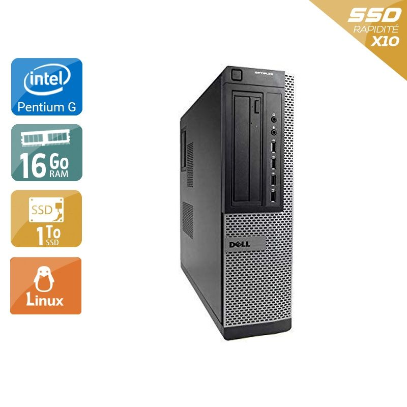 Dell Optiplex 7010 Desktop Pentium G Dual Core 16Go RAM 1To SSD Linux