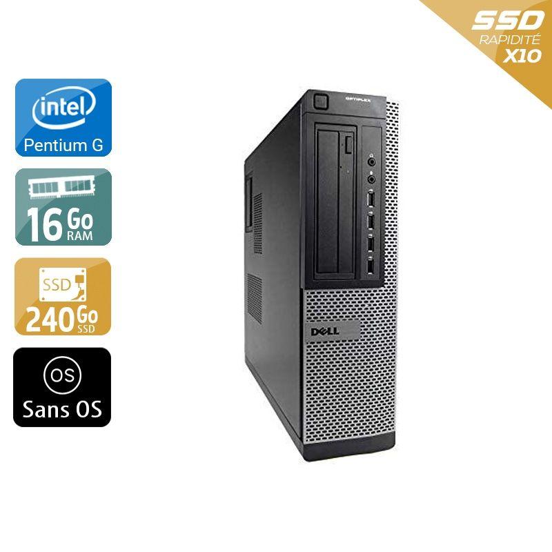 Dell Optiplex 7010 Desktop Pentium G Dual Core 16Go RAM 240Go SSD Sans OS
