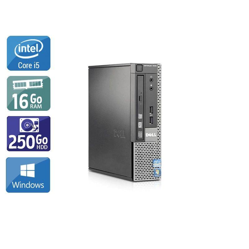 Dell Optiplex 7010 USDT i5 16Go RAM 250Go HDD Windows 10