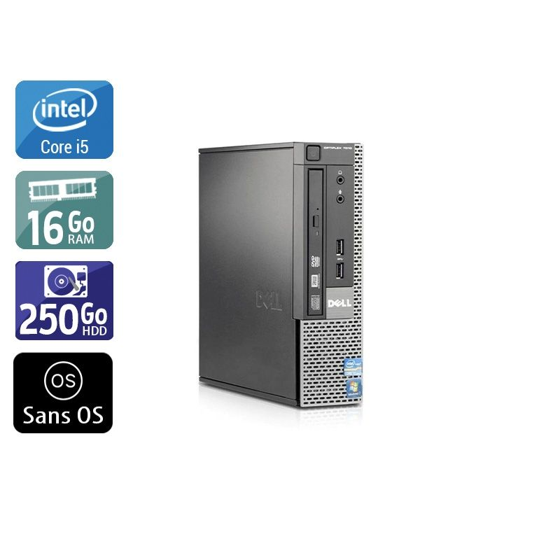 Dell Optiplex 7010 USDT i5 16Go RAM 250Go HDD Sans OS