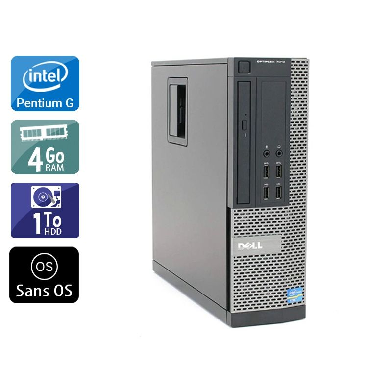 Dell Optiplex 7010 SFF Pentium G Dual Core 4Go RAM 1To HDD Sans OS