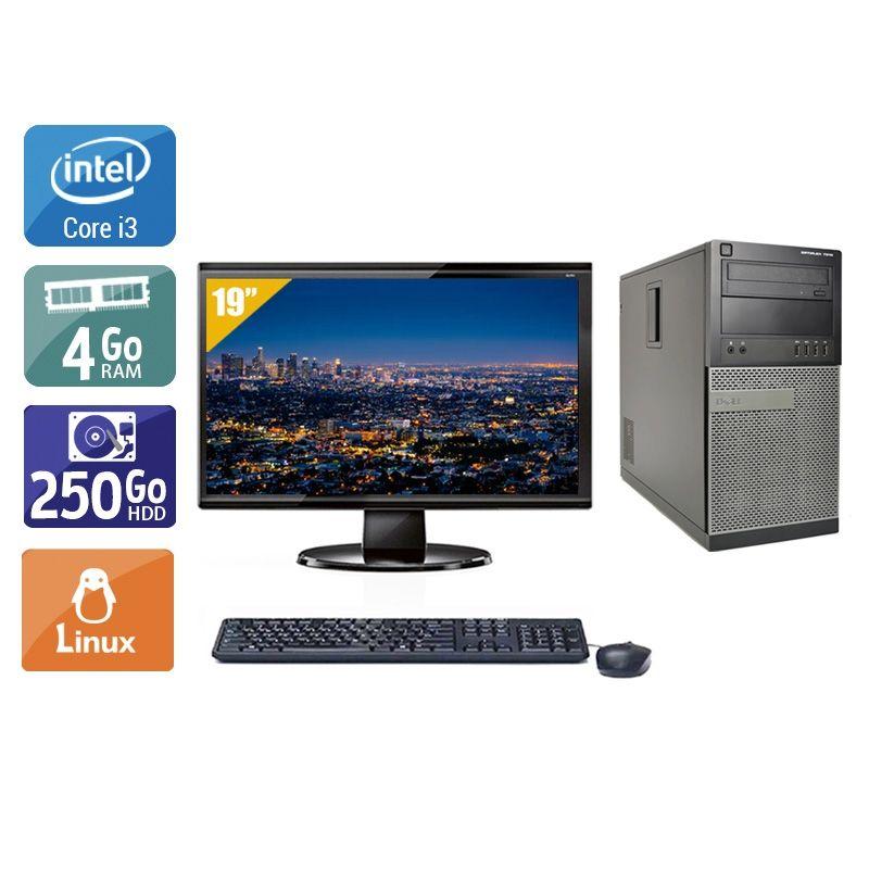 Dell Optiplex 7010 Tower i3 avec Écran 19 pouces 4Go RAM 250Go HDD Linux