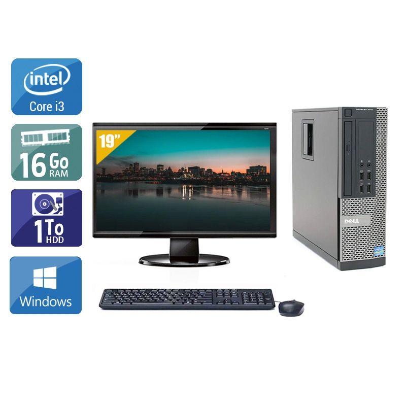 Dell Optiplex 7010 SFF i3 avec Écran 19 pouces 16Go RAM 1To HDD Windows 10